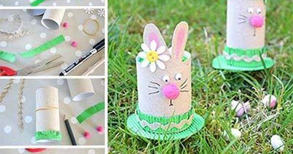 DIY Lapin Pu00e2ques Ru00e9cupu0026#39; / DIY Toilet Paper Roll Easter Bunny : SEMANA SANTA : Pinterest : Toilet ...