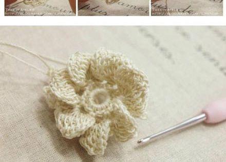 Aplicaciones para crochet ruso o irland s con patrones c - Aplicaciones de crochet para colchas ...
