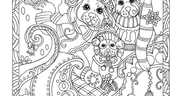 snow dog coloring pages - photo#33