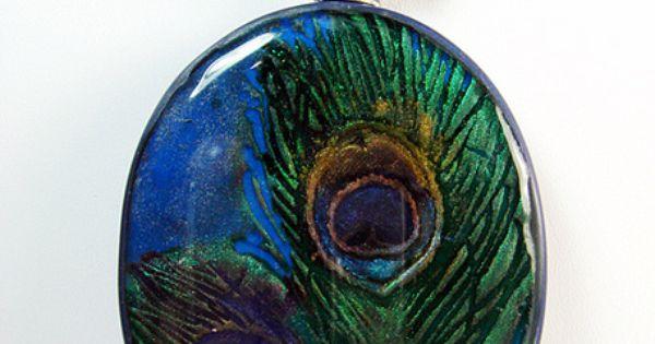 Peacock necklace  Crea...