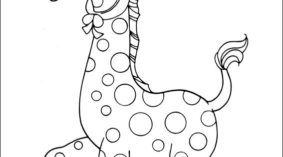 Precious moments coloring picture for the two year old for Precious moments giraffe coloring pages