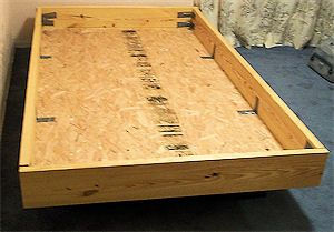 Pin By Kristin Kuhn On Decore Waterbed Frame Water Bed Queen Bed Frame Diy