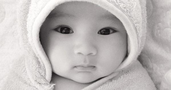 Korean Baby Gift Ideas : My cute baby boy in his disney pooh towel half korean