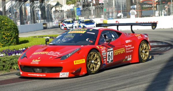 the ferrari 458 gt3 italia comes in third place in the pirelli world challenge gt class with. Black Bedroom Furniture Sets. Home Design Ideas