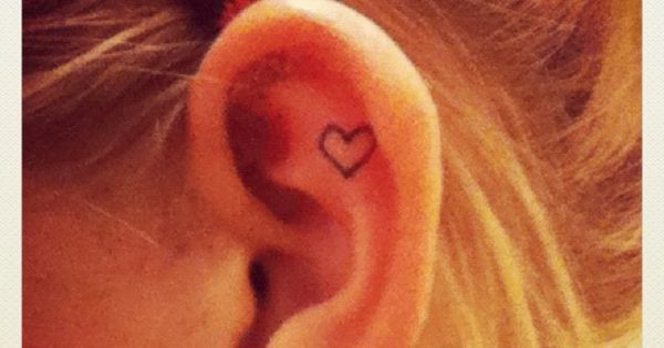 Heart ear tattoo Placement