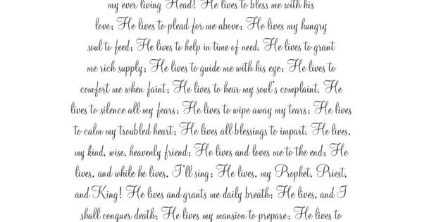 'I know that my Redeemer Lives' - Easter Printable Great idea to print in color and frame.