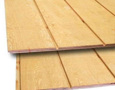 Plytanium Plywood Siding Panel T1 11 8 In Oc Nominal 19 32 In X 4 Ft X 8 Ft Actual 0 563 In X 48 In X 96 In 2020 Plywood Siding Wood Siding Wood Panel Siding