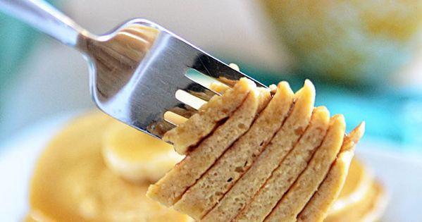Healthy Banana Bread Oatmeal Pancakes