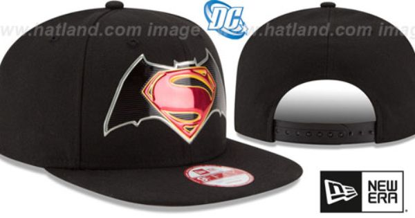 a6184843bd8 Batman VS Superman TITLE CHROME SNAPBACK Black Hat by New Era ...