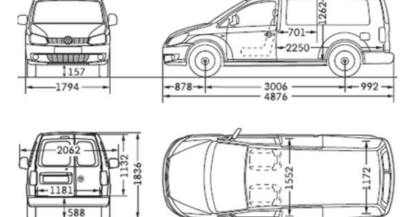 vw caddy maxi panel van dimensions