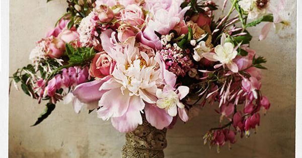 Peonies, roses, jasmine, bleeding hearts, and pink columbine | Sullivan Owen