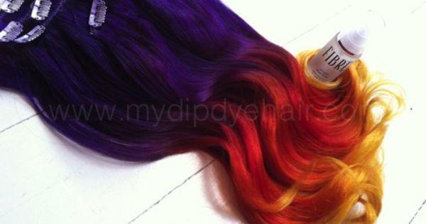 Burnt Orange Hair Color Purple Ombre And Burnt Orange On