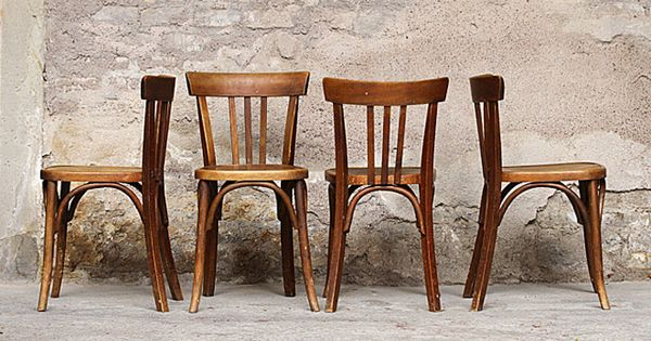 Chaises de bistrot anciennes en bois assises pinterest for Chaises bistrot anciennes