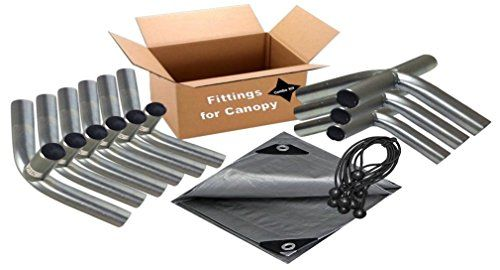 Carports 12x20 Heavy Duty 138 Carport Canopy Kit Silver Tarp Foot Pads Poles For Legs Roof Not Included Co Carport Canopy Steel Canopy Metal Carport Kits