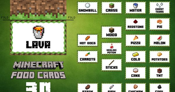 Minecraft Printable Food Labels Google Search Pinteres