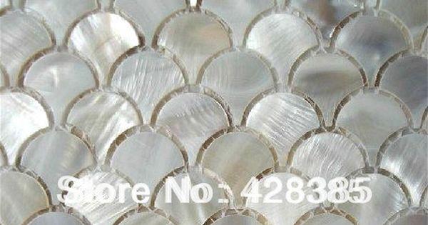 11pcs fish scale shell mosaic tile mesh of pearl kitchen backsplash wall tiles