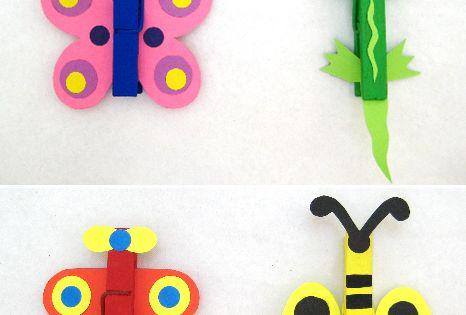 Les pinces linge pense b te un bricolage facile faire avec les enfants grandir avec for Bricolage bois facile
