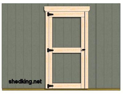 double shed doors all framed out Garden Pinterest Doors