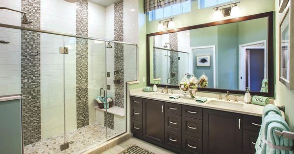 A perfect master bathroom dual vanities and dual shower for Perfect master bathroom