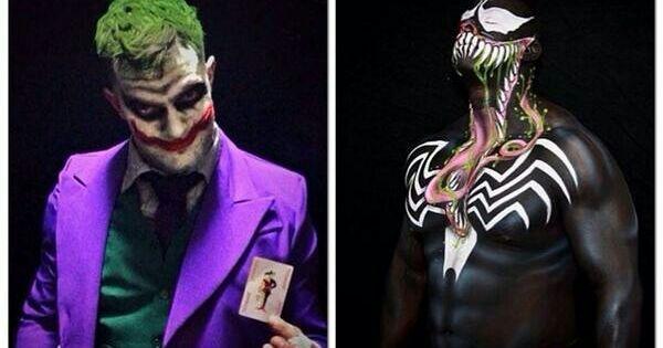 Prince Devitt aka Finn Balor wrestling outfits Joker Venom ...