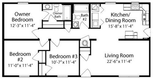 Sabrina By All American Homes Ranch Floorplan Floor Plans House Floor Plans Modern Mobile Homes