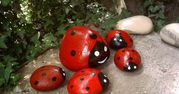 Painted Rocks for Artistic Yard and Garden Designs, 40 Cute Rock painting
