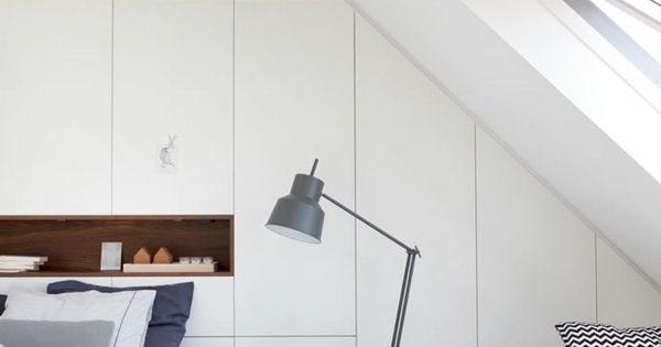Placard sous pente encastré -idées de rangement astucieuses  Design ...