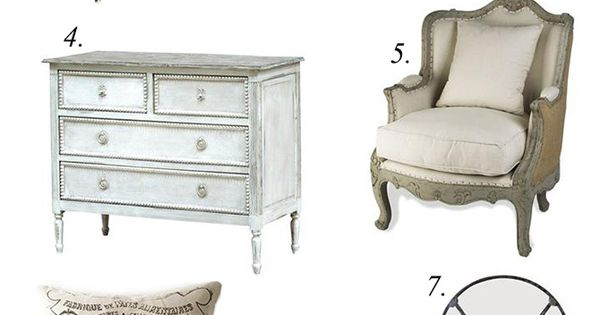 Style Notes: Designing a French Country Bedroom  프렌치 데코, 빈티지 사진 ...