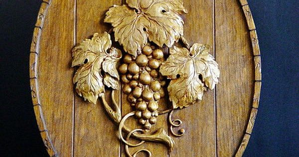 Hand made wood carving of grape vines carved pinterest