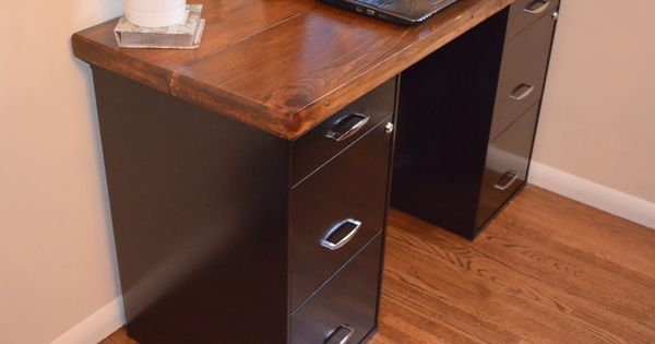 Using File Cabinets For Desk Today S Craft And Diy Ideas