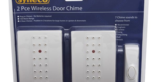 Syneco Wireless Plug In Door Chime Kit Bunnings