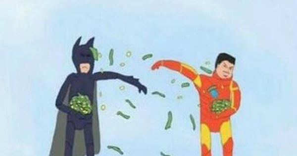 So funny 2 rich superheroes with no powers