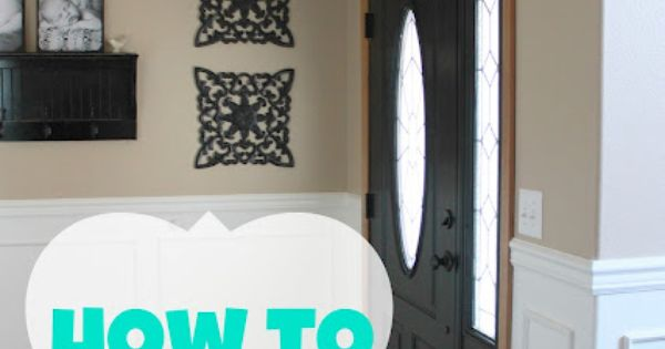 blissfully ever after how to paint a door without brush marks diy. Black Bedroom Furniture Sets. Home Design Ideas