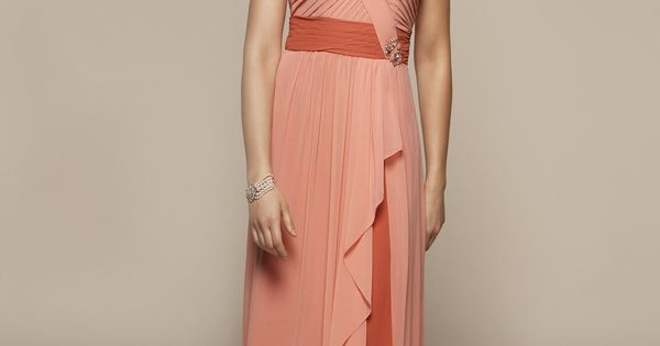 strapless A- line chiffon dress