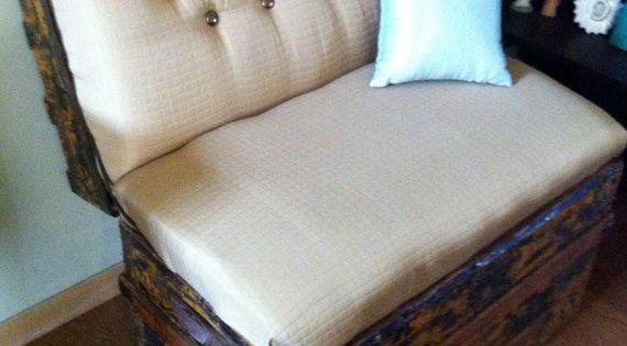 Vintage Trunk Bench Seat by lorialberti on Etsy, $275.00. ***@Natasha Zoe another