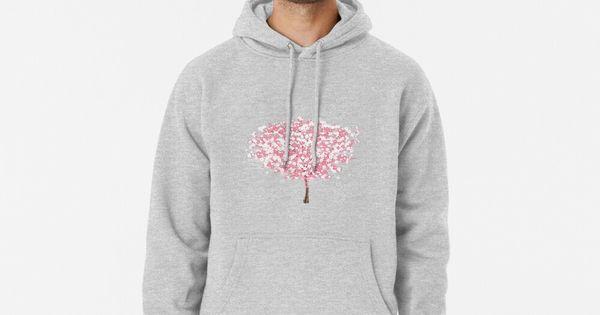 Cherry Blossom Pink Tree Sakura Cherry Blossom Tree Hoodie Pullover By Sherrimans Hoodies Pullover Hoodie Hoodie Design