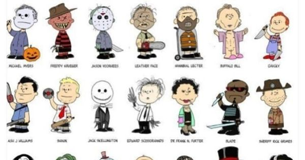 Peanuts characters the peanuts and horror on pinterest