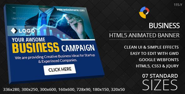 Business Html5 Ad Banners Business Logo Banner Ads