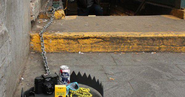 lol! Hipster Trap. (street art in NY) haha!