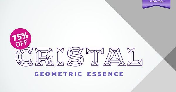 Cristal is a modern typeface inspired in the cuts of a bevel effect.