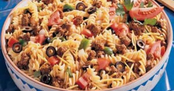 Sombrero Pasta Salad Recipe 1 package (16 ounces) spiral pasta 1 pound