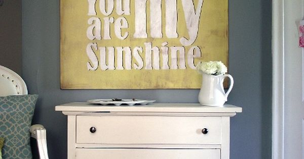 You Are My Sunshine Art. This craft project was created using Martha