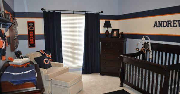 Denver broncos bedroom decor bears nursery perfect for Denver broncos bedroom ideas