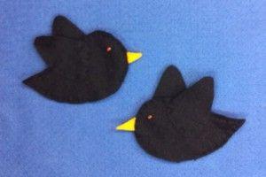 Flannel Friday Two Little Black Birds Two Little Black Bats Bird Crafts Little Black Bird Bird Crafts Preschool