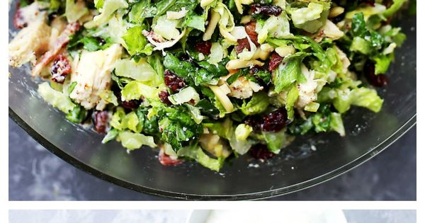 Cranberry Chicken Salad with Light Dijon Parmesan Dressing | Recipe