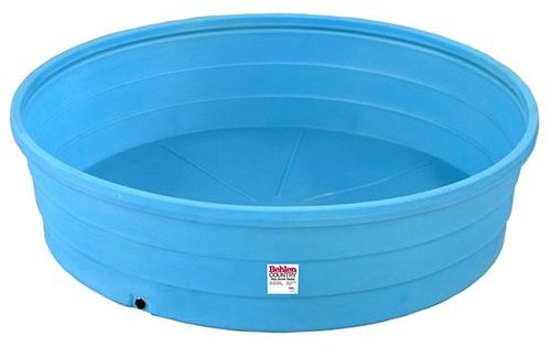 9 foot diameter round poly stock tank outside living for Plastik pool rund