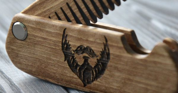 husband boyfriend gift wooden folding comb men grooming. Black Bedroom Furniture Sets. Home Design Ideas