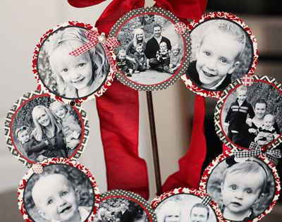 Family Photo Wreath - 23 Great DIY Christmas Wreath Ideas--- Good Christmas