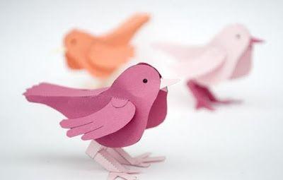 Cómo Hacer Adornos De Aves Con Cartulina Y Moldes Haz Manualidades Adornos De Aves Manualidades Pájaros De Papel