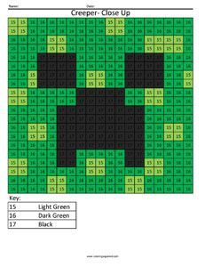Minecraft Coloring Pages Creeper Face Collection